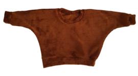Oversized sweater Cognac