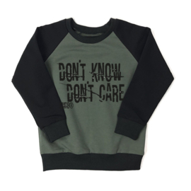 Sweater Don't know Don't Care