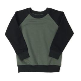 Sweatshirt Echo Khaki & Black