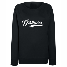 "Sweater ""Girlboss"" Zwart"
