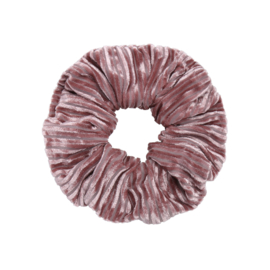 Scrunchie Rib Velvet Pink