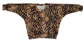 Oversized shirt Snake print