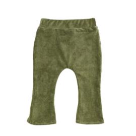 Flair broekje | Mini rib | Olive green