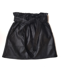 Miss Bow Skirt leather