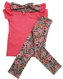 Setje flowers Pink