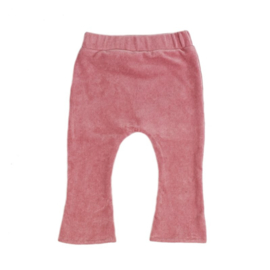 Flair broekje | Mini rib | Roze | Handmade