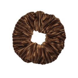 Scrunchie Rib Velvet Bruin