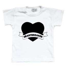"Shirt ""Heartbreaker"" (Zwart of wit)"