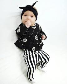 Setje Black & White gestreepte legging AD