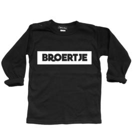 """Shirt """"Broertje"""" zwart"""