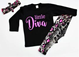 Setje Snake print Neon Pink Little Diva