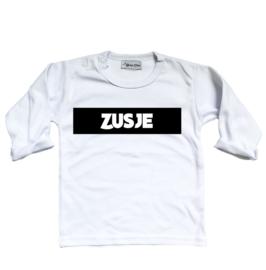 "Shirt ""Zusje"" wit"