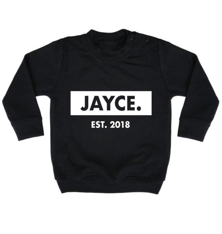 Name-sweater - Sweater met naam en geboortejaar