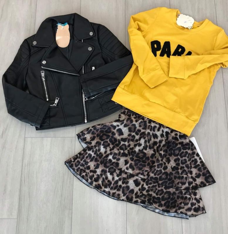 Meisjes sweater geel Paris