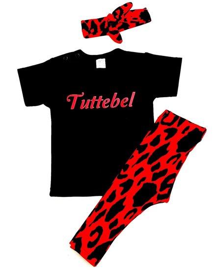 Setje Tuttebel Leopard rood