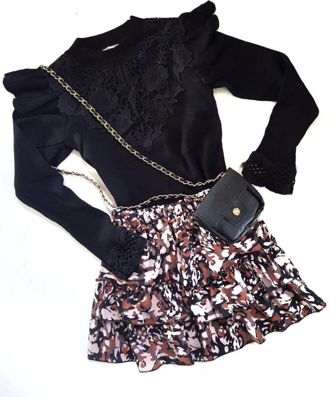 Truitje Ruffle Lace Black