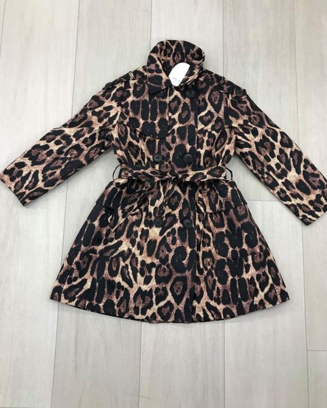 Meisjesjas zomerjas Trenchcoat Leopard
