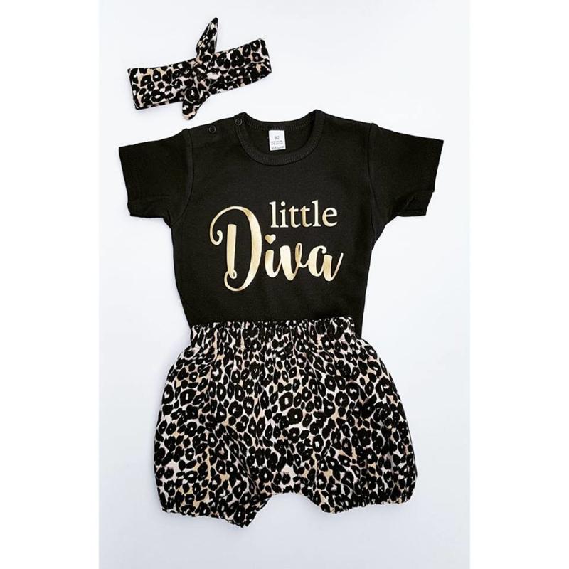 "Setje ""Little Diva"" Leopard"