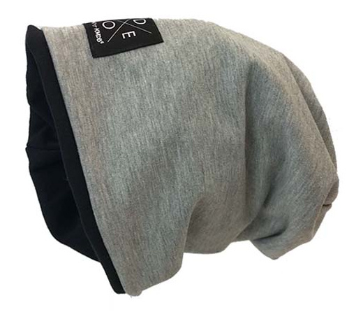 "Beanie slouchy ""Grey Reversible"""