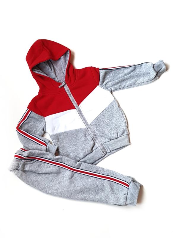 Joggingset Blocked Grey