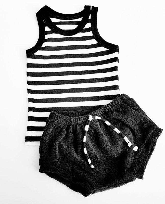 Setje Stripes Black White