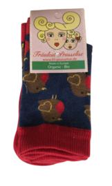 Fräulein Prusselise - Sokken Roodborstjes