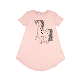 Dadamora SS20 Tee dress with Unicorn Baby Pink