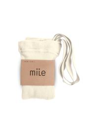 Mile AW20 - Kousenbroek met bandjes crème