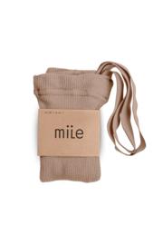 Mile AW20 - Kousenbroek met bandjes lichtbruin