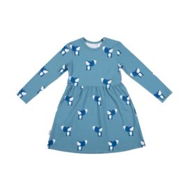 Malinami AW20 - Dress Fox On Blue