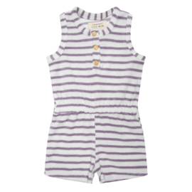 Little Indians  SS20 Playsuit Lila Lines in badstof
