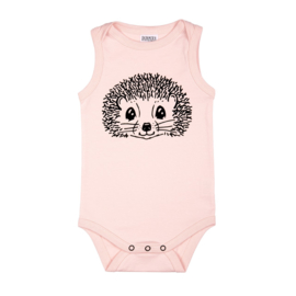 Dadamora - Tanktop Bodysuit with Hedgehog Baby Pink