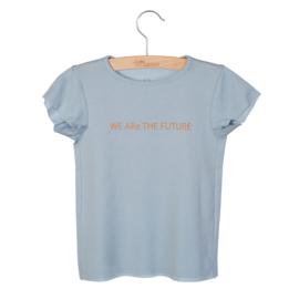 Little Hedonist SS20 Shirt Dean Print Blue Fog