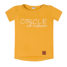 Zezuzulla - T-shirt Mustard Circle of Nature