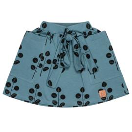 Zezuzulla AW20 - Pocketed Skirt Leaves On Blue