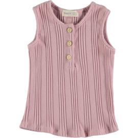 Beans SS2020 - Magnolia - Ribbet tank t-shirt Pink