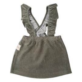 Little Indians AW20 - Salopette Dress Corduroy Green
