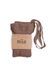 Mile AW20 - Kousenbroek met bandjes hazelnoot