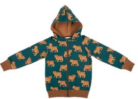Malinami AW20 - Zip Up Hoodie Lynx On Dark Green