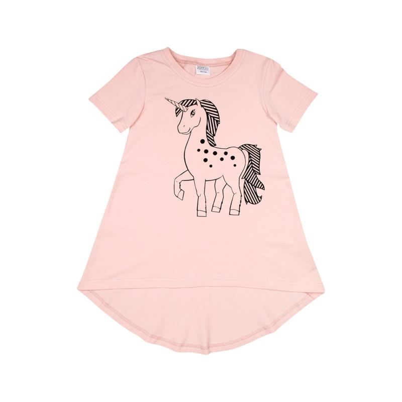 Dadamora - Tee dress with Unicorn Baby Pink