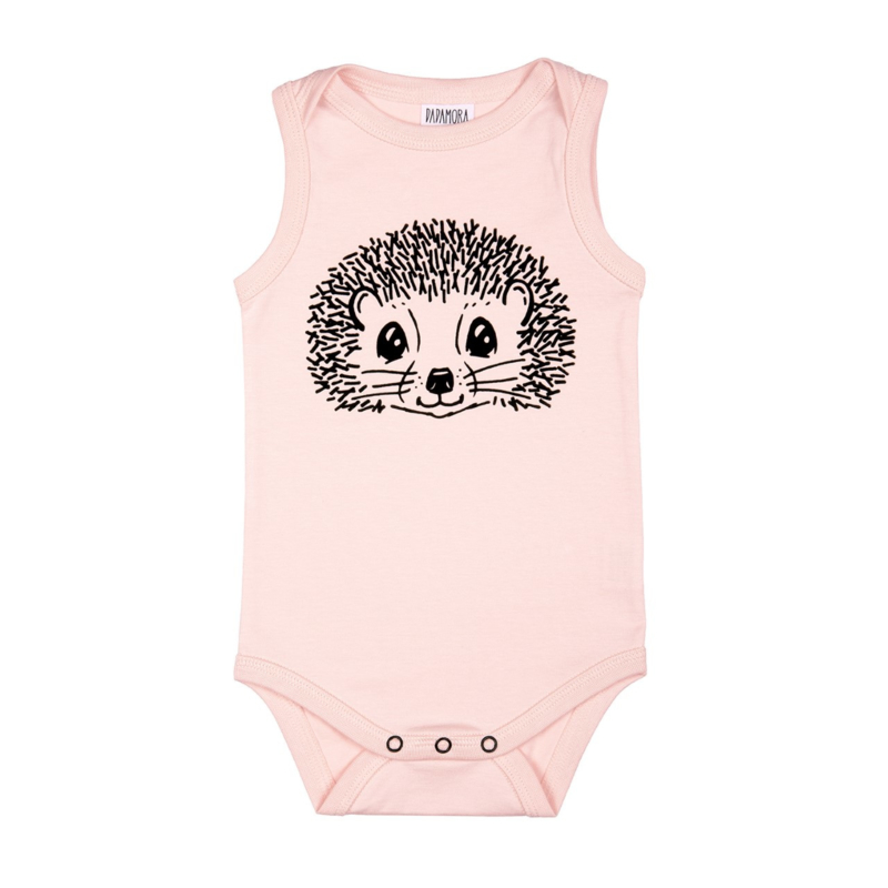 Dadamora SS20 Tanktop Bodysuit with Hedgehog Baby Pink