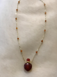Carnelian scentainer ketting