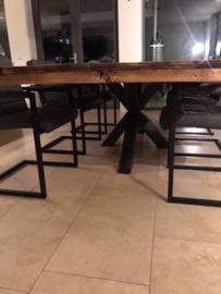 Eettafel met Matrix poot, bijenwas