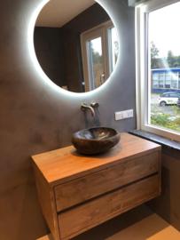 Zwevend badkamermeubel met 2 lades