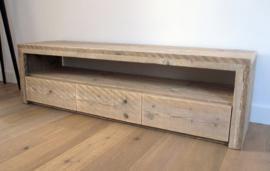 Tv meubel met lades, Steigerhout