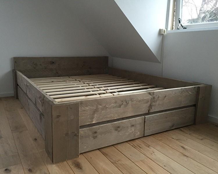 Uitgelezene Bed met lades, tweepersoons FJ-09