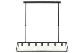 Hanglamp SVANA glas zwart met 7 lampen