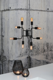 Hanglamp  MARINELLE zwart met 8 lampen