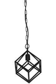 Hanglamp  DRIZELLA mat zwart met 1 lamp