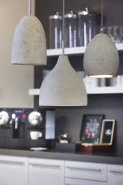 Hanglamp HANNOVER beton+reflector